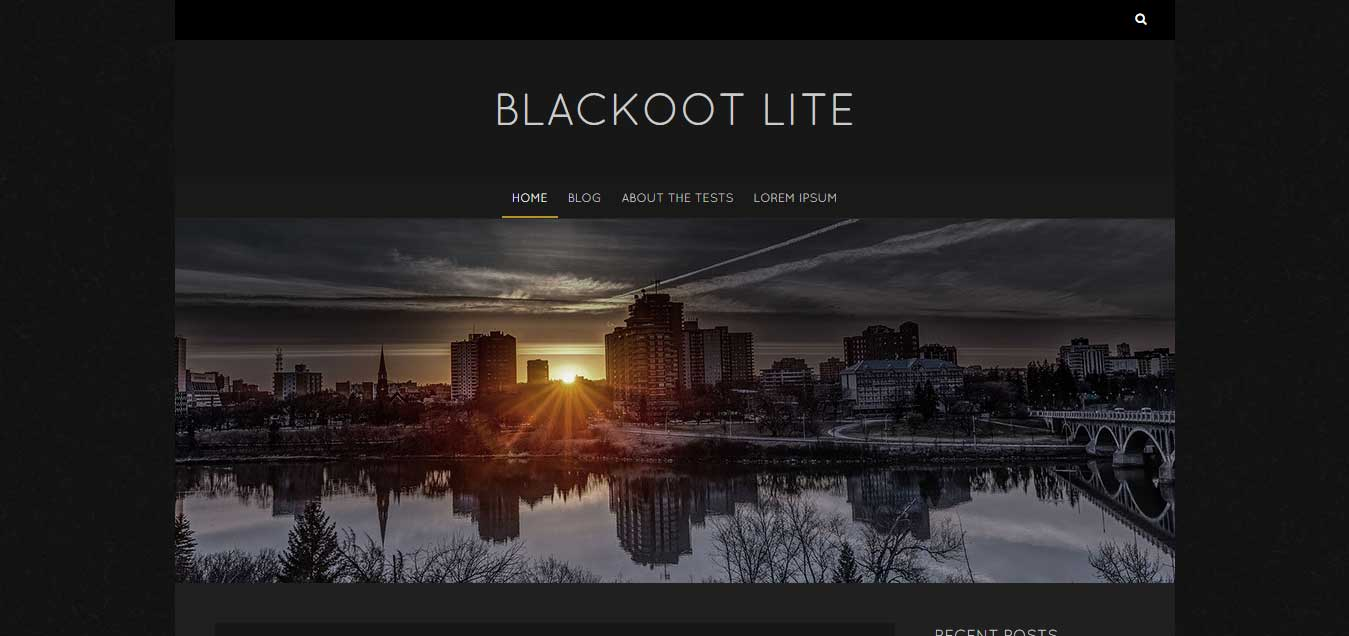 Blackoot Lite - Simple Powerful Free WordPress Theme
