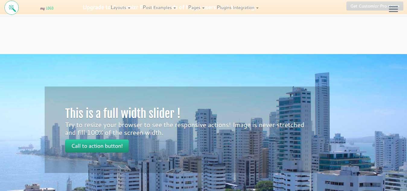 Customizr - Free WordPress Theme 2016