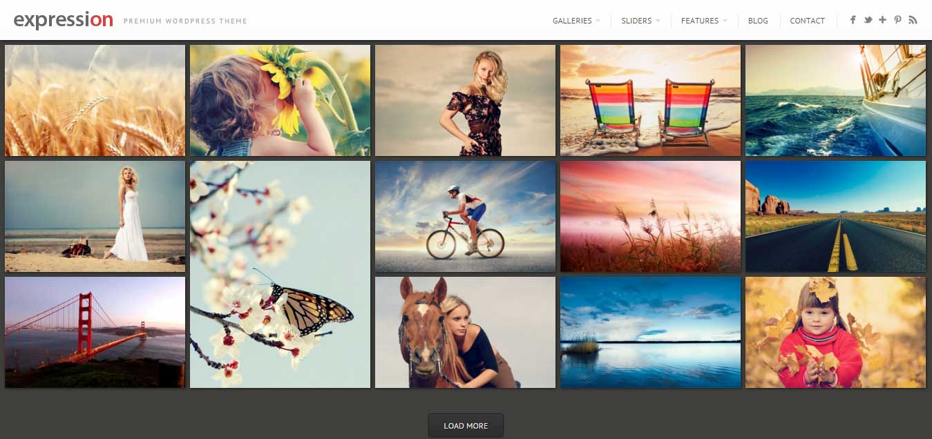 Expression - Beautiful Photography WordPress Theme