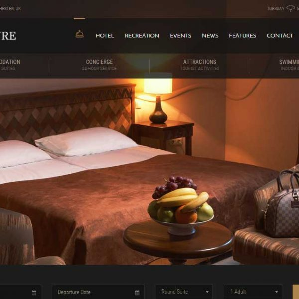 Hotel Leisure - Hotel WordPress Theme
