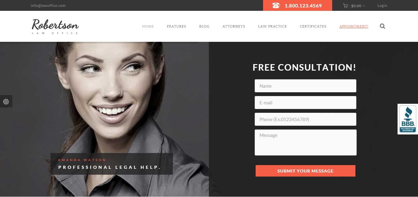 Law Office - Clean Lawyers Attorneys WP Theme