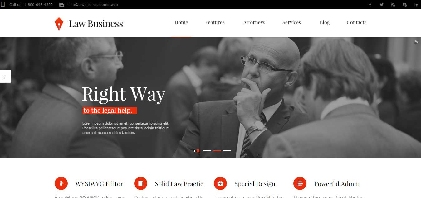 LawBusiness - Attorney and Lawyer WordPress Theme