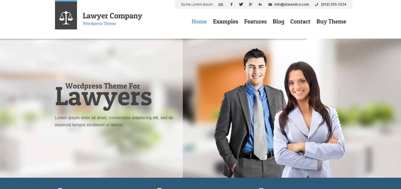 Lawyer - Multipurpose Adaptive WordPress Theme