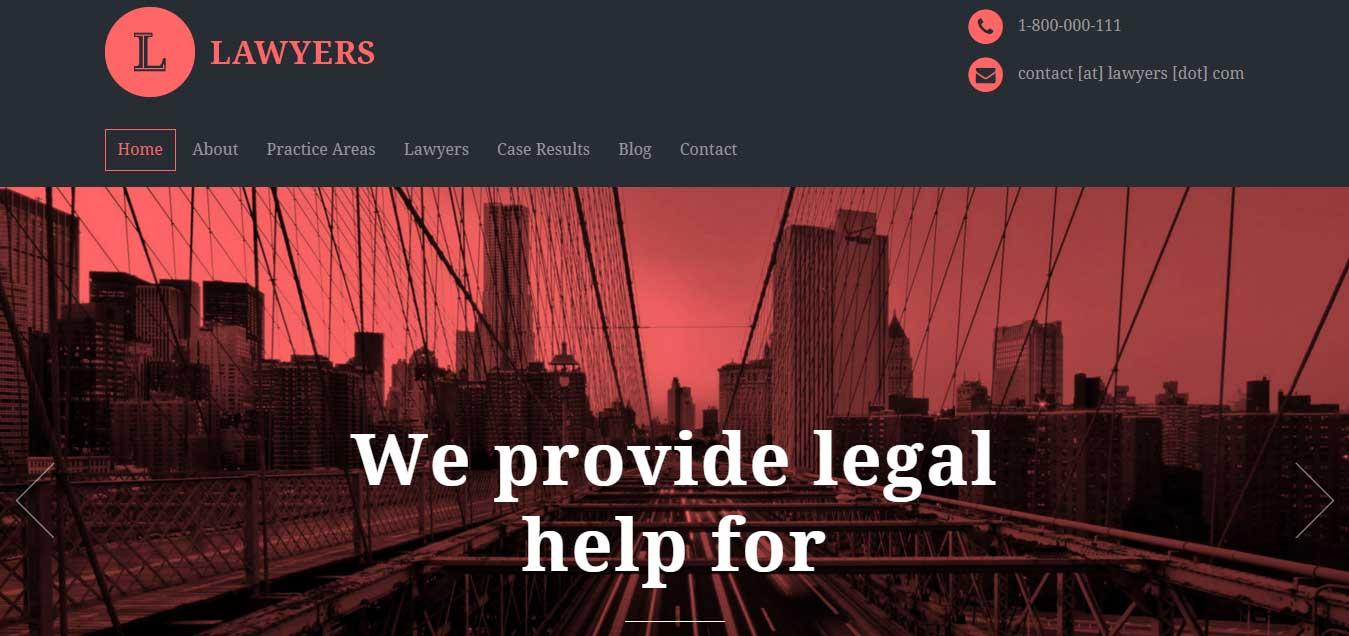 Lawyers - best lawyer WordPress themes