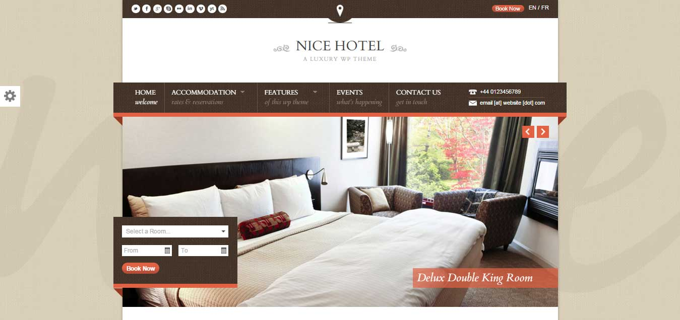 Nice Hotel - Beautiful WordPress Theme