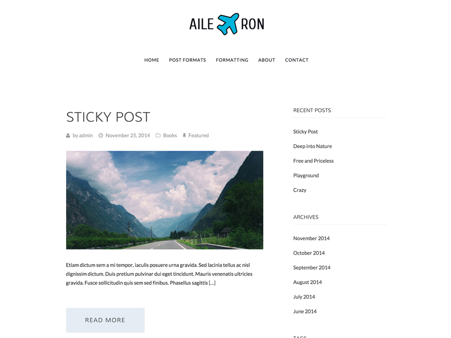 Aileron WordPress Theme
