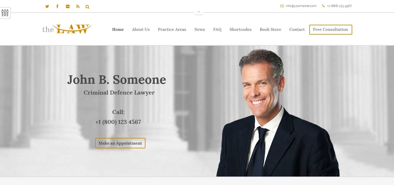 The Law - Top Legal Attorney WP Theme