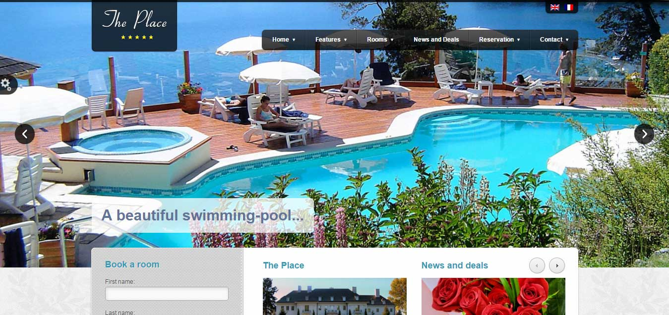 The Place - Best Hotel WordPress Themes
