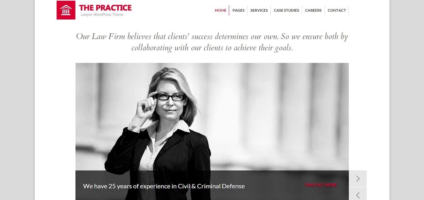 The Practice - top lawyer WordPress themes