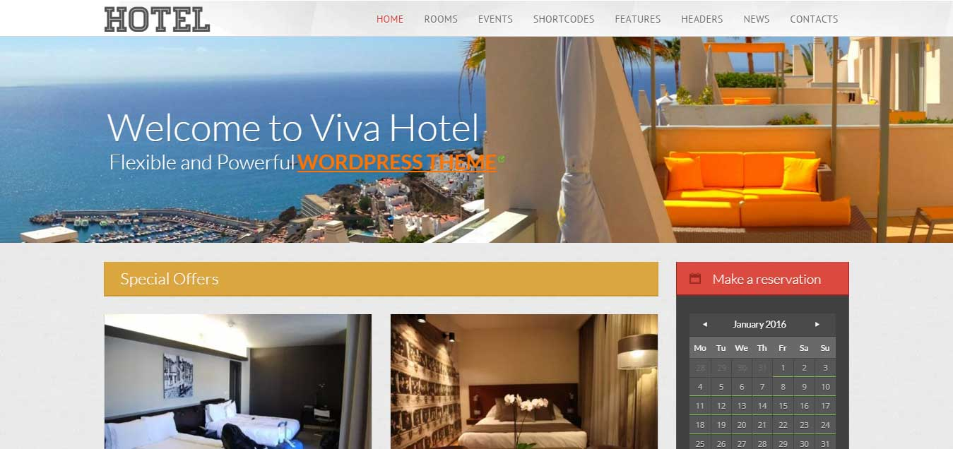 Viva Hotel - Beautiful Hotel WordPress Theme