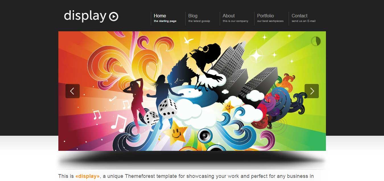 Display 3 in 1 - Best Portfolio WordPress Themes