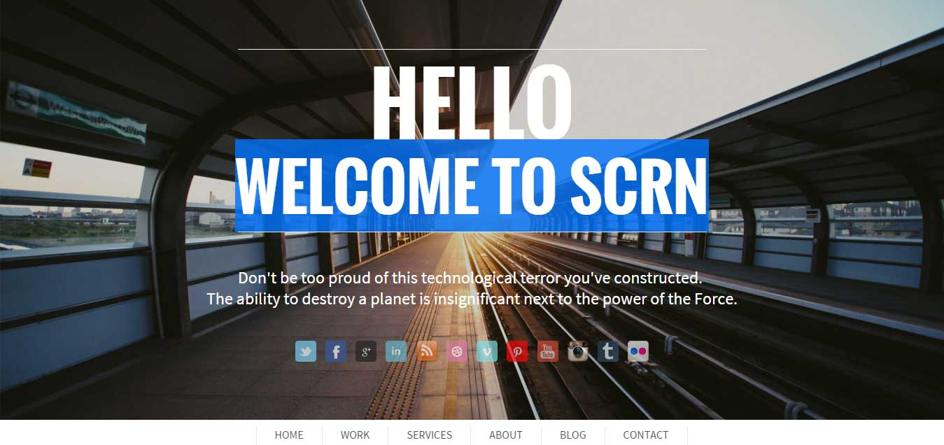 SCRN - Responsive one page / single page portfolio