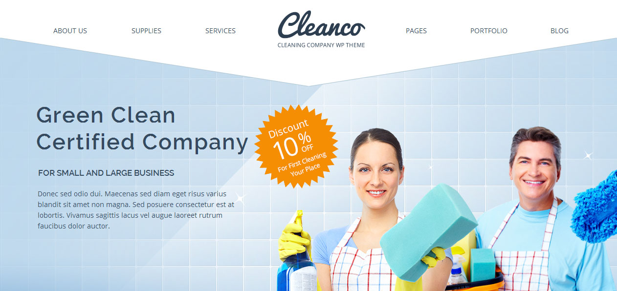 Cleanco - House Cleaning Company WordPress Themes