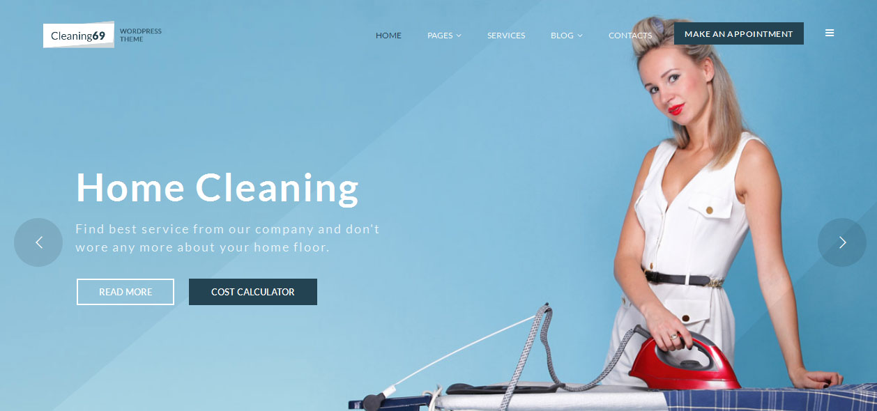 Cleaning69 - House Cleaning Company WordPress Themes