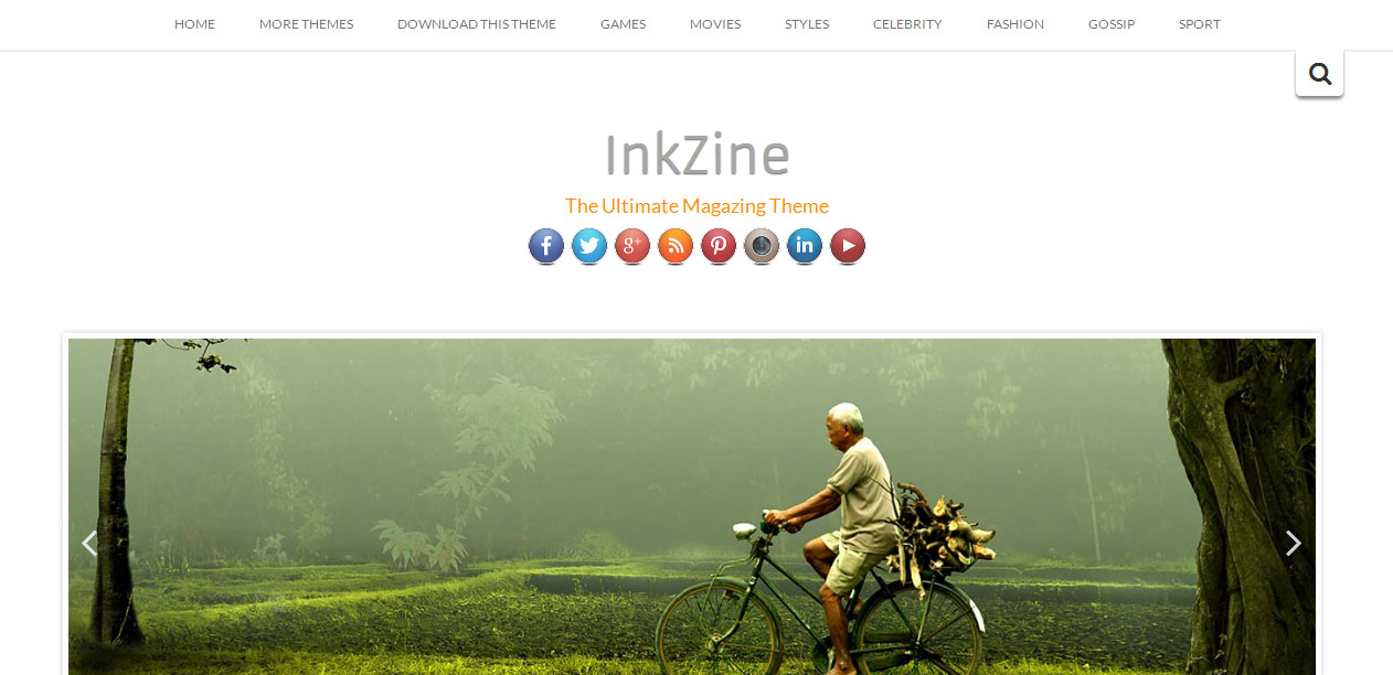 Inkzine - Parallax WordPress Themes