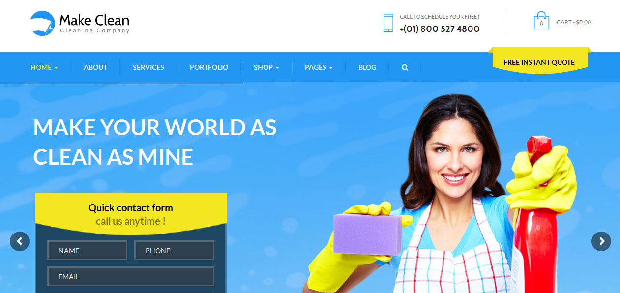 Make Clean - House Cleaning Company WordPress Themes