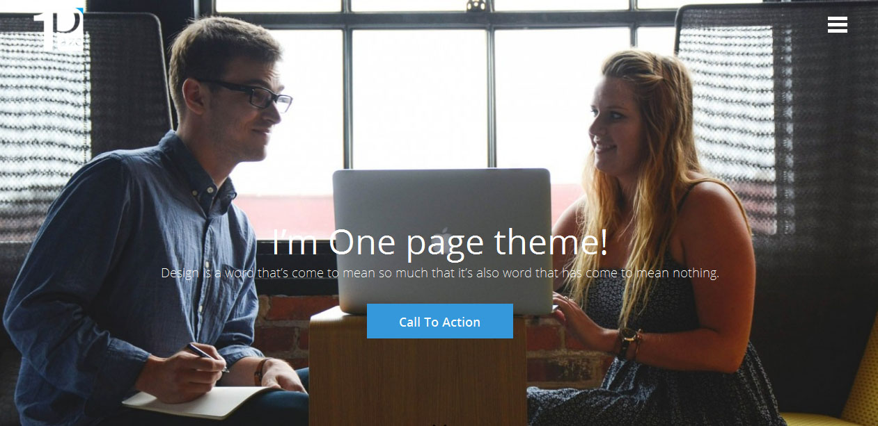 One Paze - Parallax WordPress Themes