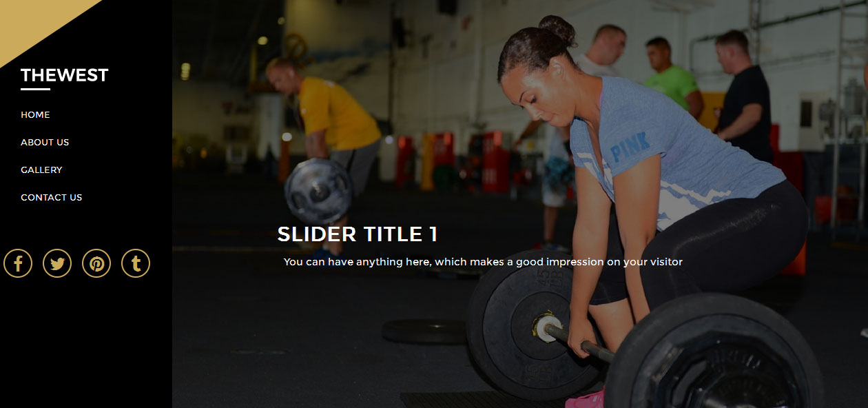 TheWest - Free Fitness WordPress themes