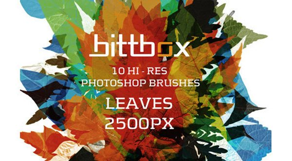 10 Free High-Res Leaves Photoshop Brushes