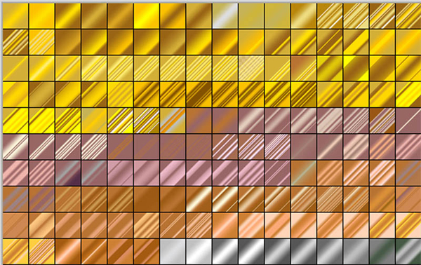 250 Free Photoshop Metal Gradients