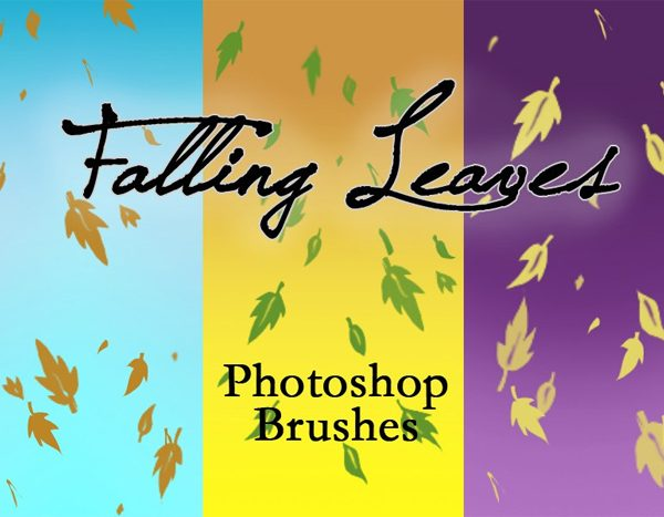 3 Falling Leaves Brushes for Free Download