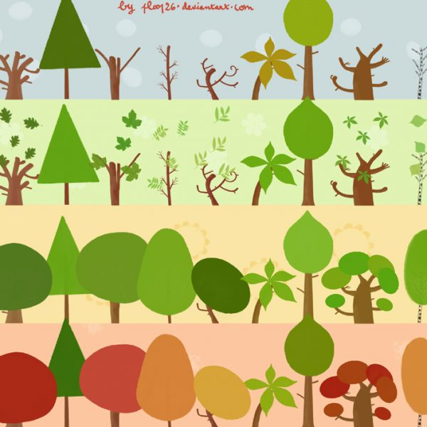 32 Trees and Leaves Brushes for Designers