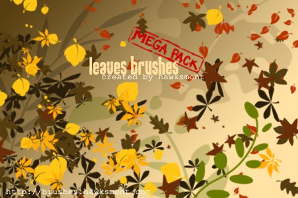 Free Photoshop Leaf Brushes