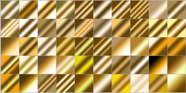50 Free Golden Metal Gradients