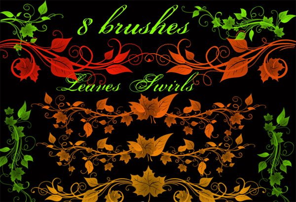 8 Cool Free Leaves Swirls Brushes for PS