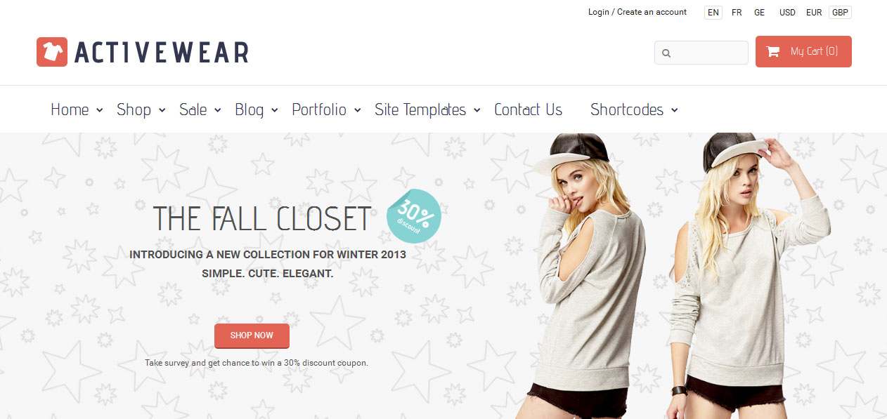 ActiveWear - Jewelry Shop WordPress Themes