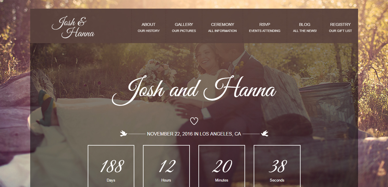 Aimer - Wedding WordPress Theme