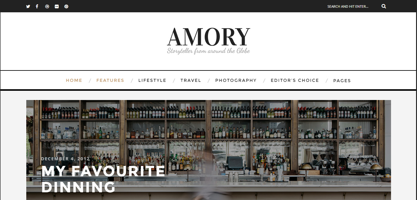 Amory - Creative WordPress Blog Theme