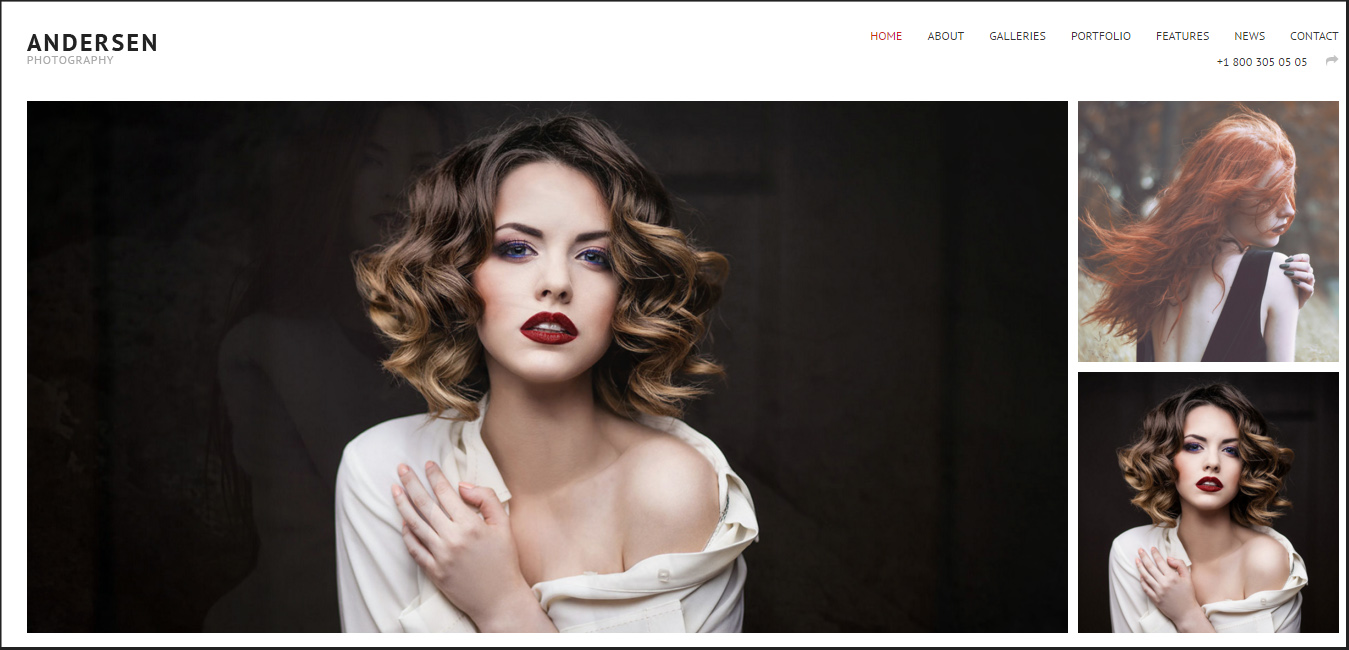 Andersen - Fullscreen WordPress Photography Theme