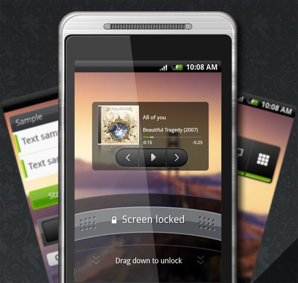 Android GUI Set Free Photoshop Files