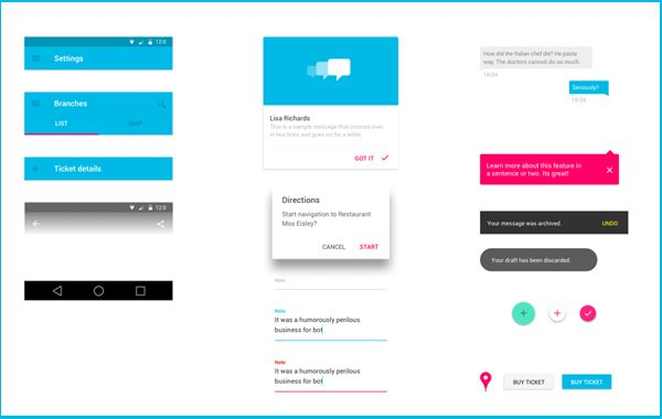 Android Material Design UI Kit