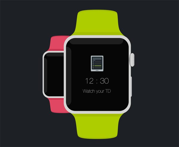 Apple Watch - Free Psd Flat Mockup