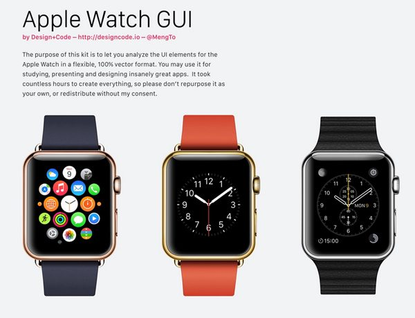 Apple Watch GUI for Sketch