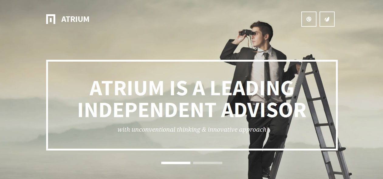 Atrium - Banking WordPress Themes