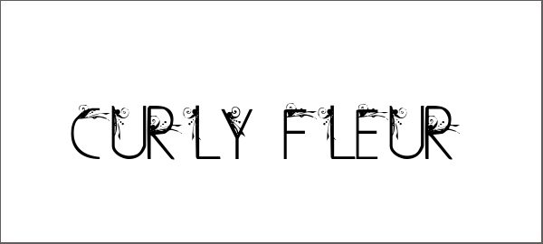 Awesome Free Curly Fleur Caps Font