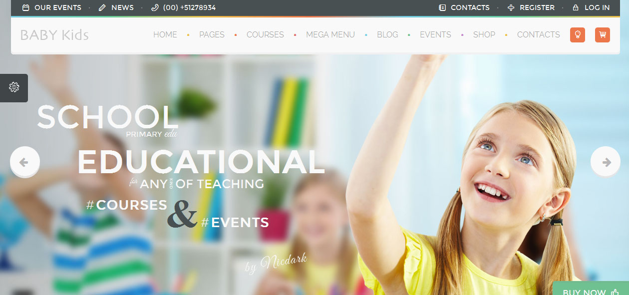 Baby Kids - Academic WordPress Themes