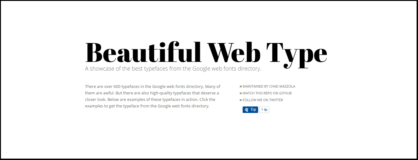 Beautiful Web Type