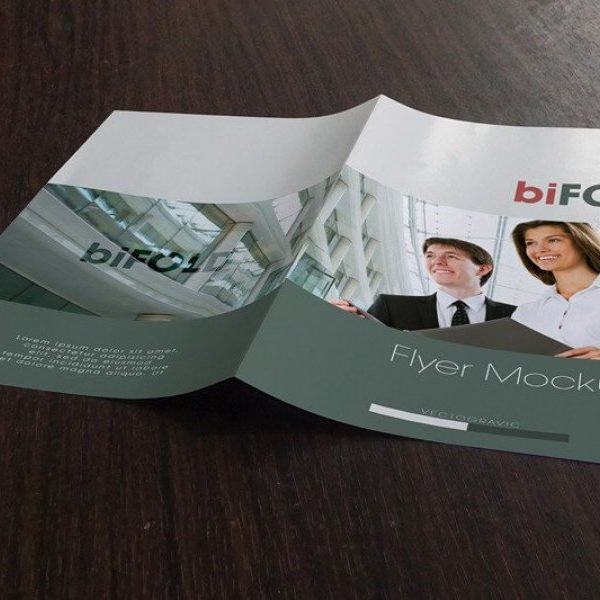 Bifold Flyer Mockup Design for Free