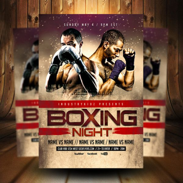 Boxing Night PSD Flyer Template