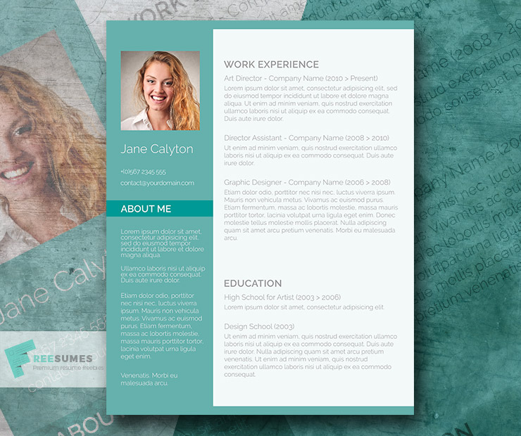 35 best free resume design templates themecot for Classy resume templates