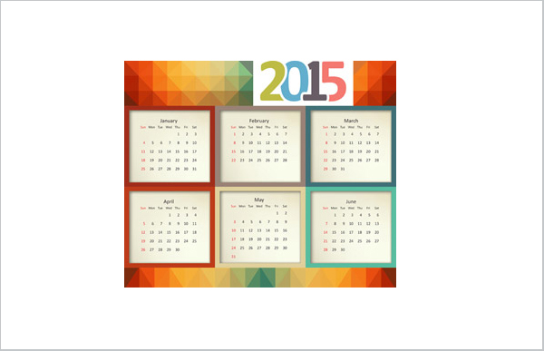 Colorful Calendar Square Pattern