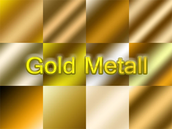 Cool Free Photoshop Gold Metal Gradients