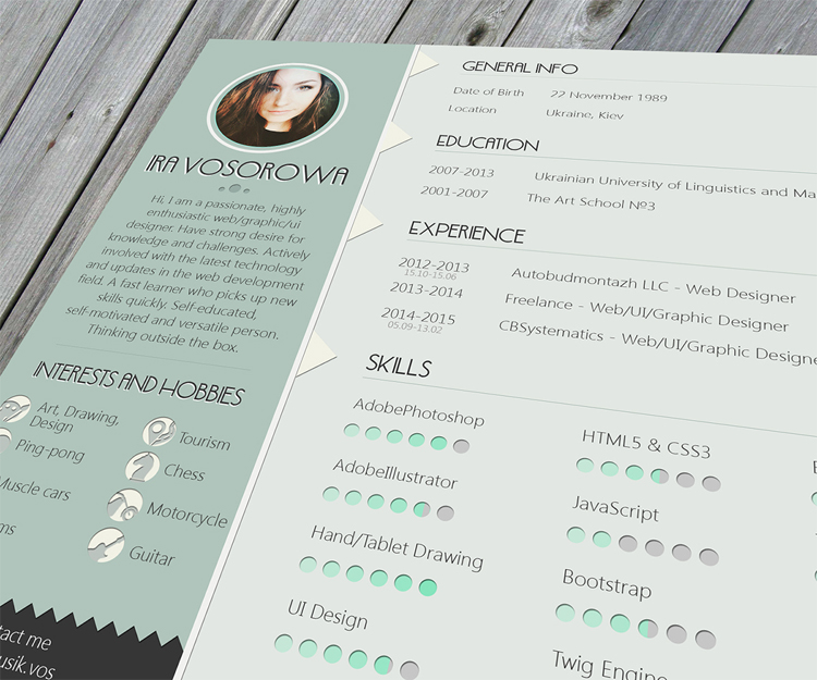 cool free resume template design - Totally Free Resume Template
