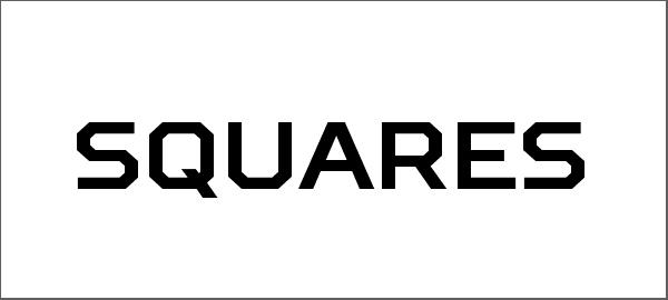 Cool Free Squares Font