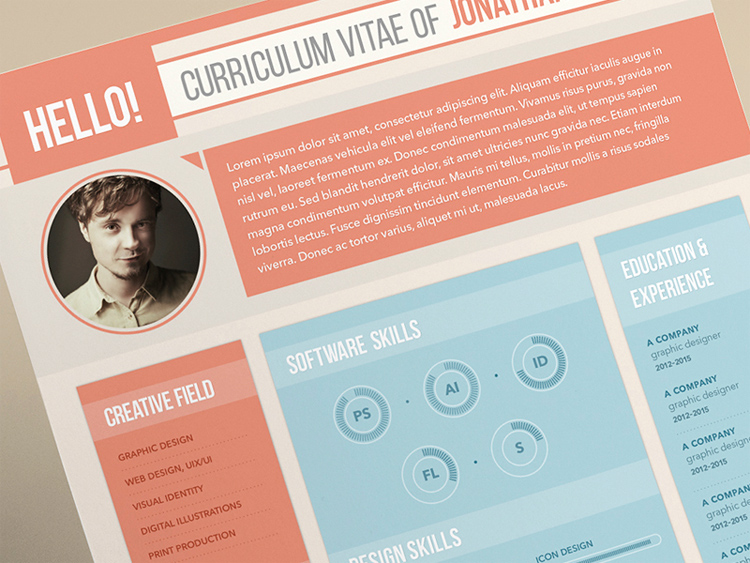Curriculum Vitae for a Graphic Designer