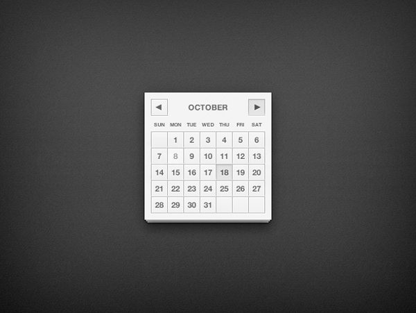 Elegant Calendar UI Design